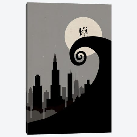 Chicago's Nightmare Canvas Print #SKW16} by SKYWORLDPROJECT Canvas Print