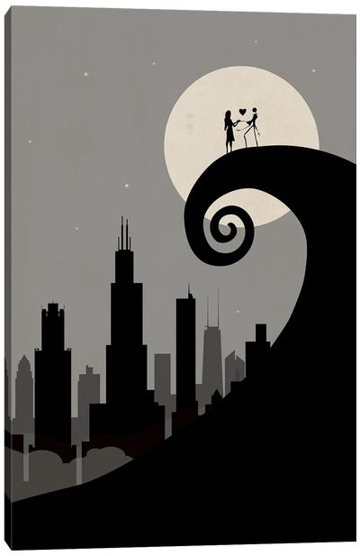 Chicago's Nightmare Canvas Art Print