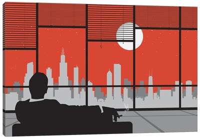 Mad Day Chicago Canvas Art Print