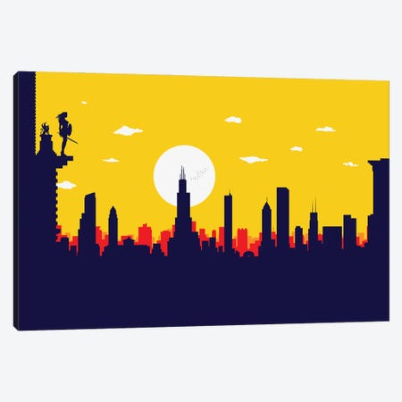 Chicago's Wonder Hero Canvas Print #SKW18} by SKYWORLDPROJECT Canvas Art