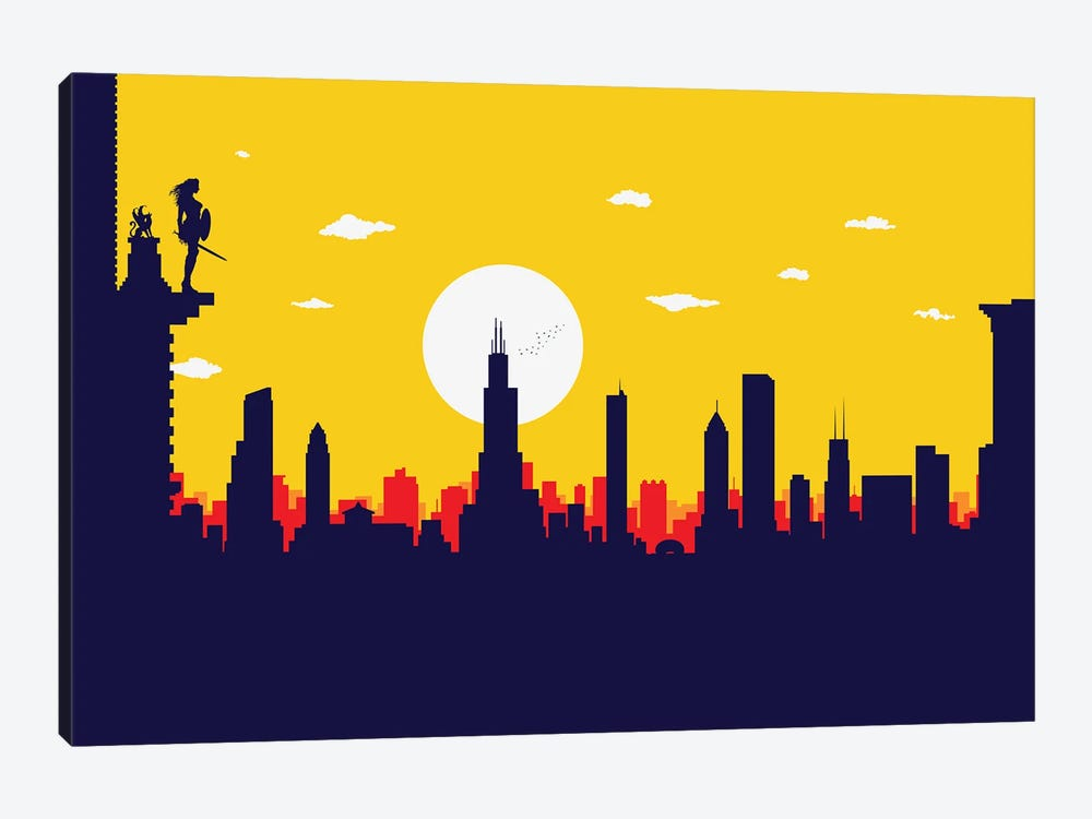 Chicago's Wonder Hero by SKYWORLDPROJECT 1-piece Canvas Wall Art