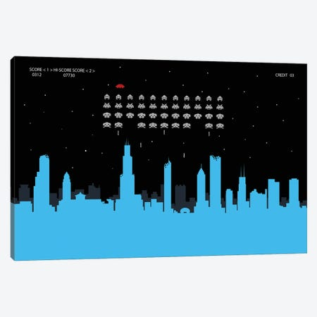 Chicago Invaders Canvas Print #SKW19} by SKYWORLDPROJECT Canvas Art