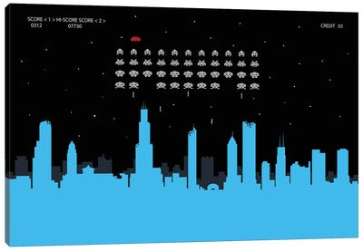 Chicago Invaders Canvas Art Print
