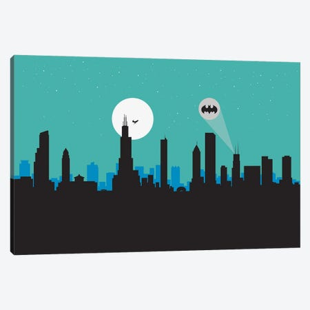 Chicago Hero Canvas Print #SKW20} by SKYWORLDPROJECT Art Print