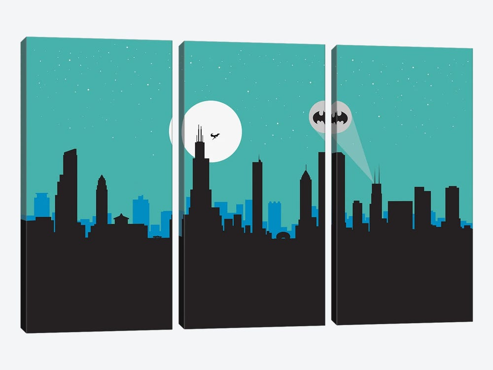Chicago Hero by SKYWORLDPROJECT 3-piece Canvas Art Print