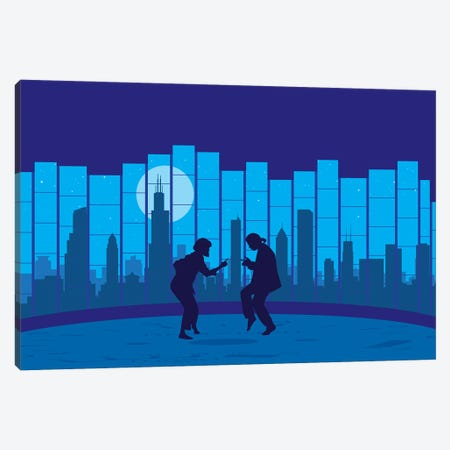 Chicago fiction Canvas Print #SKW22} by SKYWORLDPROJECT Canvas Print