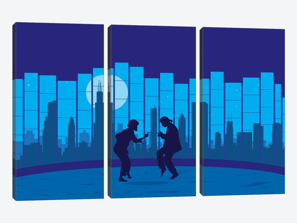Chicago fiction by SKYWORLDPROJECT 3-piece Canvas Art Print