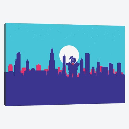 Chicago Sweet Ghost Canvas Print #SKW23} by SKYWORLDPROJECT Canvas Print