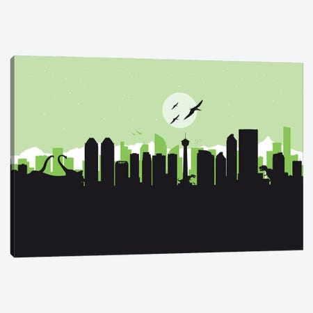 Calgary Dinosaurs Canvas Print #SKW28} by SKYWORLDPROJECT Art Print