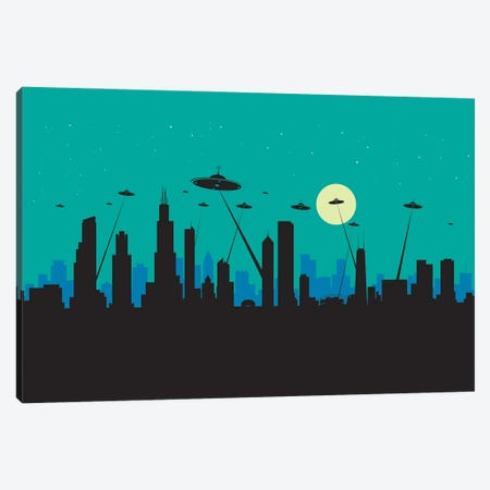 Ufos Chicago Canvas Print #SKW29} by SKYWORLDPROJECT Canvas Art Print