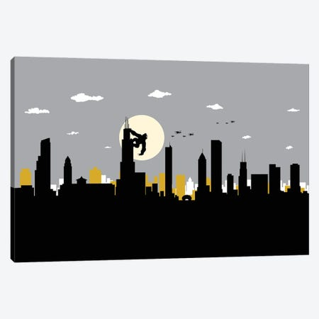 Chicago's King Canvas Print #SKW30} by SKYWORLDPROJECT Canvas Art