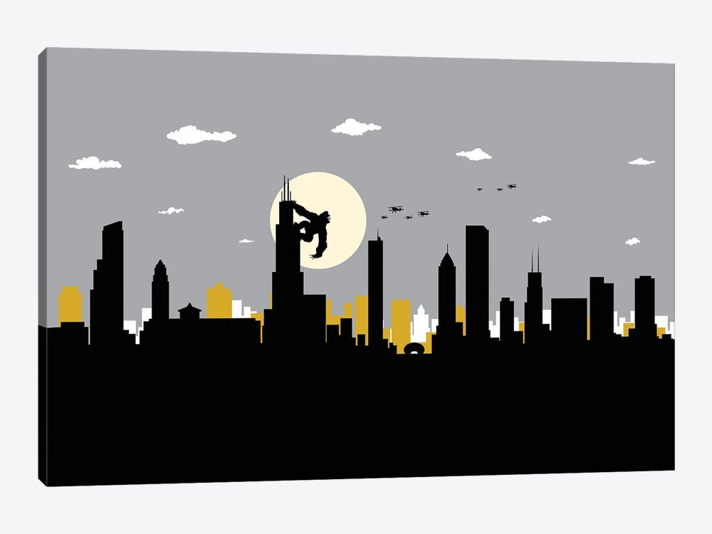 Chicago's King by SKYWORLDPROJECT 1-piece Canvas Artwork