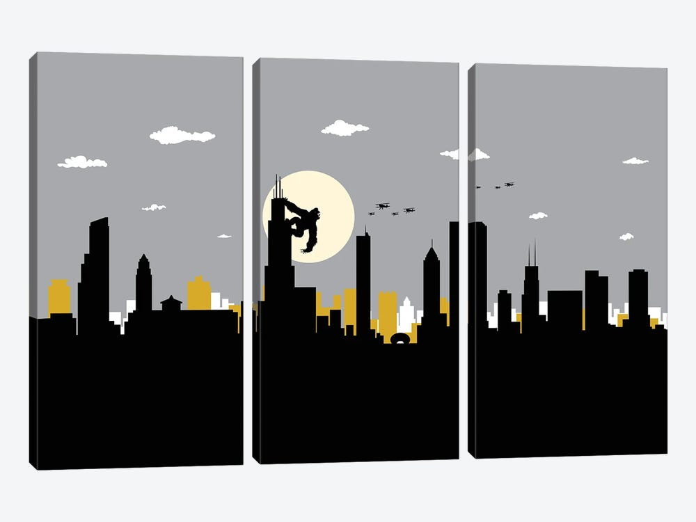 Chicago's King by SKYWORLDPROJECT 3-piece Canvas Wall Art
