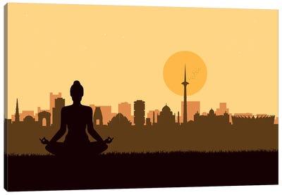 Delhi Meditation Canvas Art Print