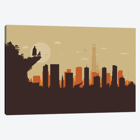 Denver's Ring Search Canvas Print #SKW32} by SKYWORLDPROJECT Canvas Wall Art