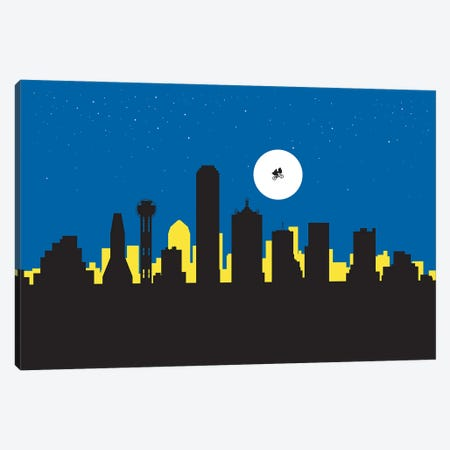 Dallas Night Ride Canvas Print #SKW34} by SKYWORLDPROJECT Canvas Art Print
