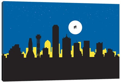 Dallas Night Ride Canvas Art Print