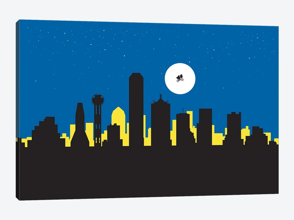 Dallas Night Ride by SKYWORLDPROJECT 1-piece Canvas Wall Art