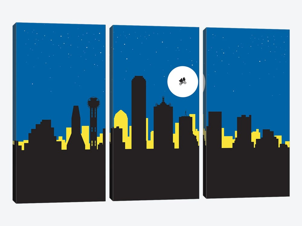 Dallas Night Ride by SKYWORLDPROJECT 3-piece Canvas Art