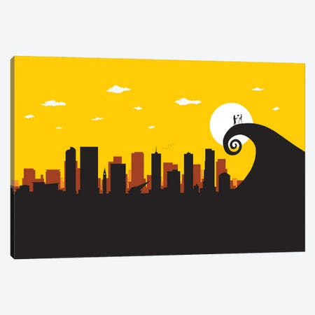A Nightmare in Denver Canvas Print #SKW36} by SKYWORLDPROJECT Canvas Art Print