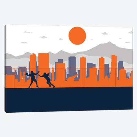 Denver Training Canvas Print #SKW37} by SKYWORLDPROJECT Canvas Art Print