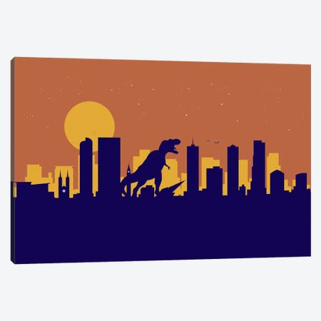 Denver Dinosaur Canvas Print #SKW38} by SKYWORLDPROJECT Canvas Wall Art