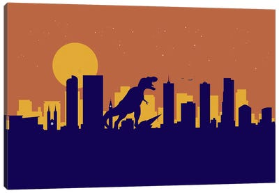 Denver Dinosaur Canvas Art Print
