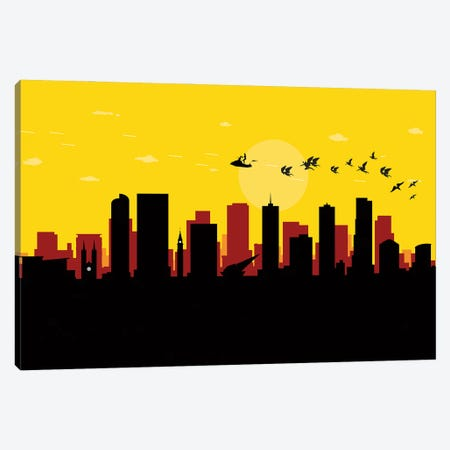 Denver Flash Fight Canvas Print #SKW39} by SKYWORLDPROJECT Canvas Wall Art