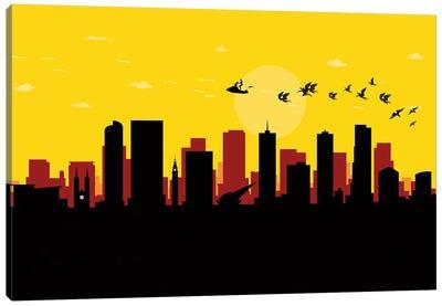 Denver Flash Fight Canvas Art Print