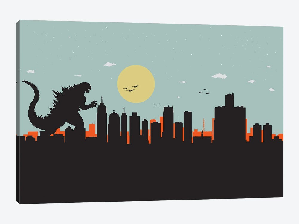 Detroit Monster by SKYWORLDPROJECT 1-piece Art Print