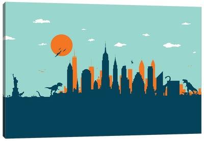 New York Jurassic Canvas Art Print