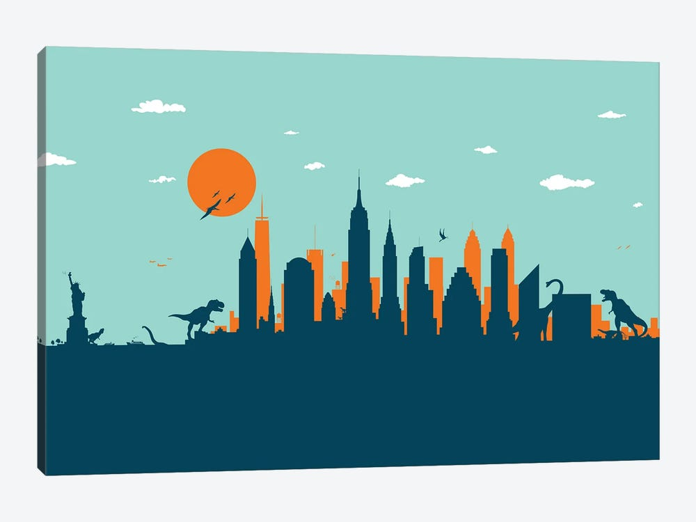 New York Jurassic by SKYWORLDPROJECT 1-piece Canvas Print