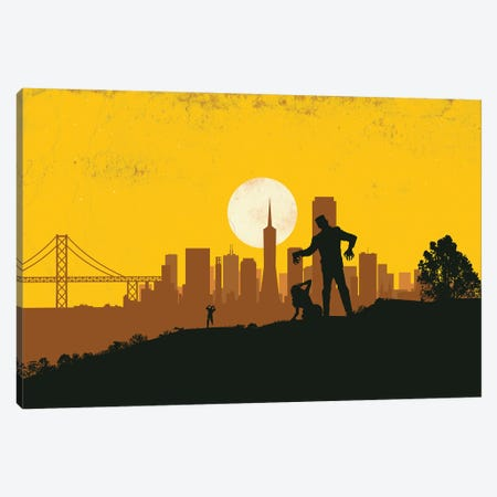 San Francisco Prometheus Canvas Print #SKW43} by SKYWORLDPROJECT Art Print