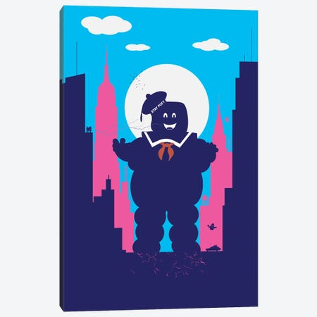 Manhattan Sweet Monster Canvas Print #SKW44} by SKYWORLDPROJECT Canvas Artwork