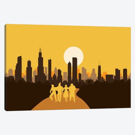 Chicago of Oz Canvas Print #SKW47} by SKYWORLDPROJECT Canvas Wall Art