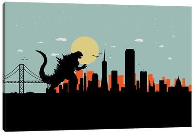 San Francisco Monster Canvas Art Print