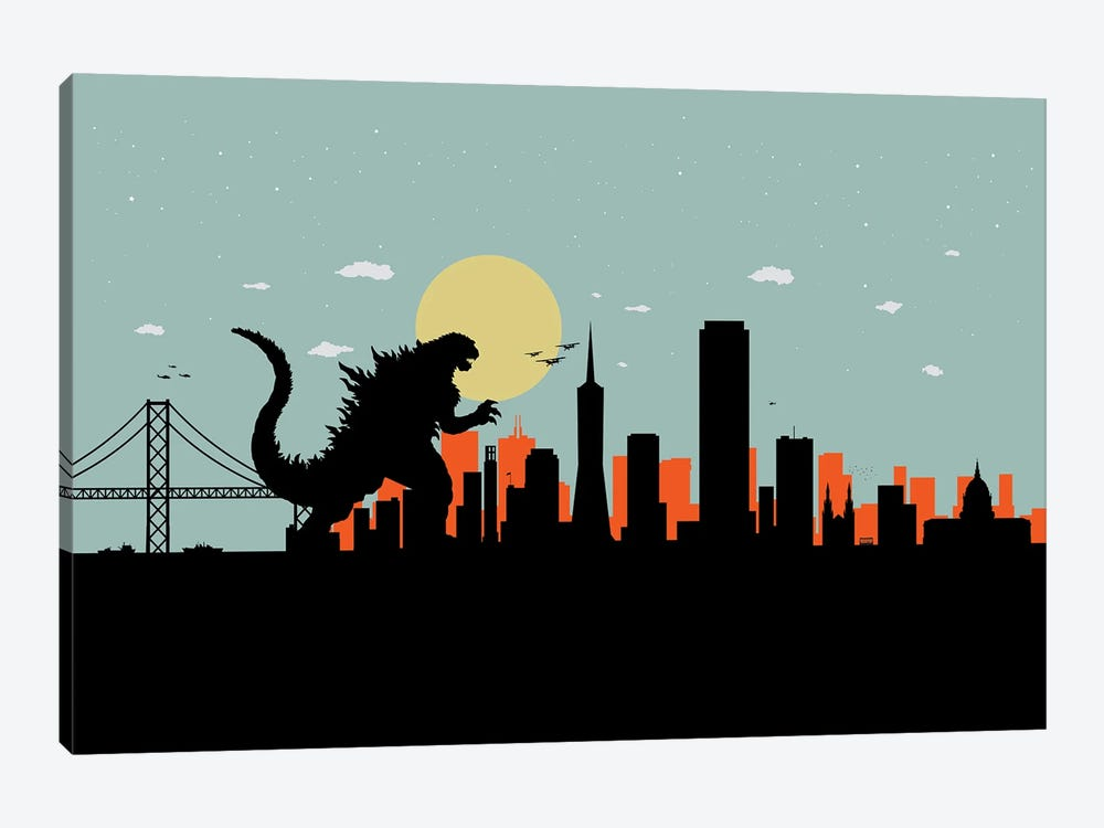 San Francisco Monster by SKYWORLDPROJECT 1-piece Canvas Wall Art