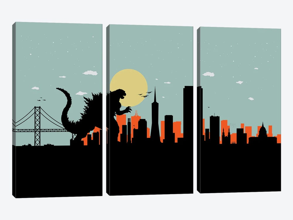 San Francisco Monster by SKYWORLDPROJECT 3-piece Canvas Art