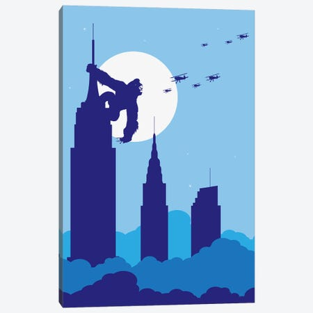 Empire State King Canvas Print #SKW50} by SKYWORLDPROJECT Canvas Wall Art