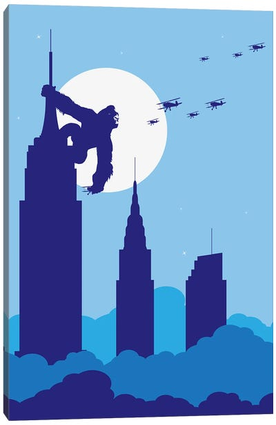 Empire State King Canvas Art Print