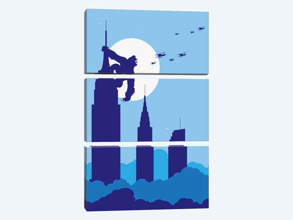 Empire State King by SKYWORLDPROJECT 3-piece Canvas Artwork