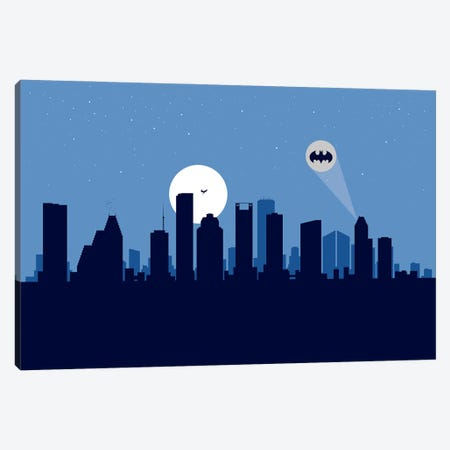 Houston Justice Canvas Print #SKW51} by SKYWORLDPROJECT Canvas Art