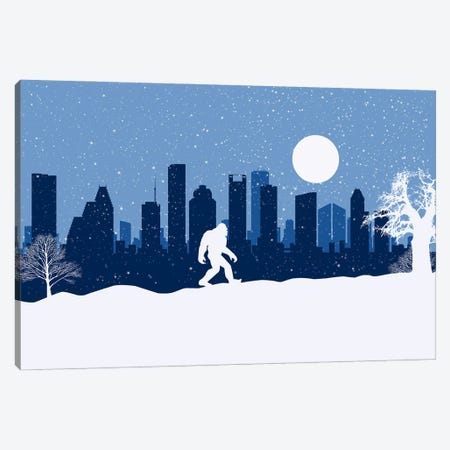 Houston's Bigfoot Canvas Print #SKW52} by SKYWORLDPROJECT Canvas Artwork