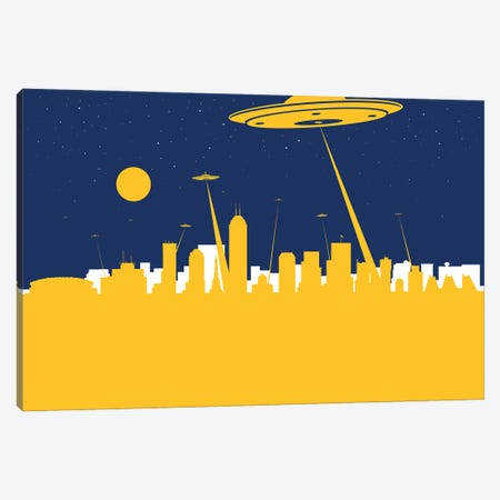 Indianapolis UFO Canvas Print #SKW54} by SKYWORLDPROJECT Canvas Print