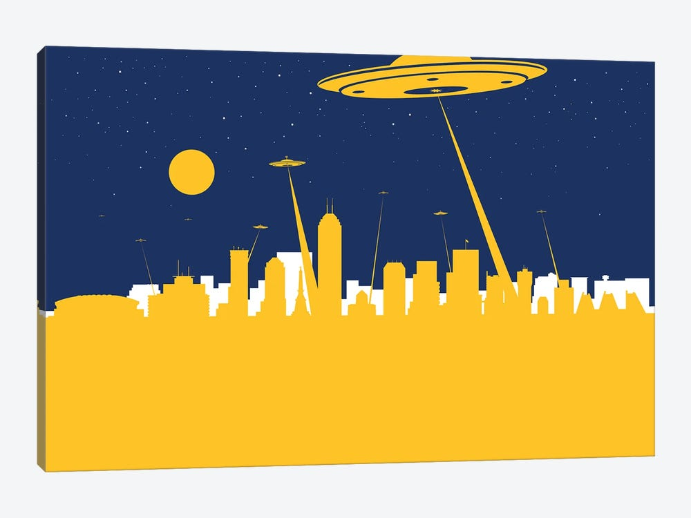 Indianapolis UFO by SKYWORLDPROJECT 1-piece Canvas Wall Art
