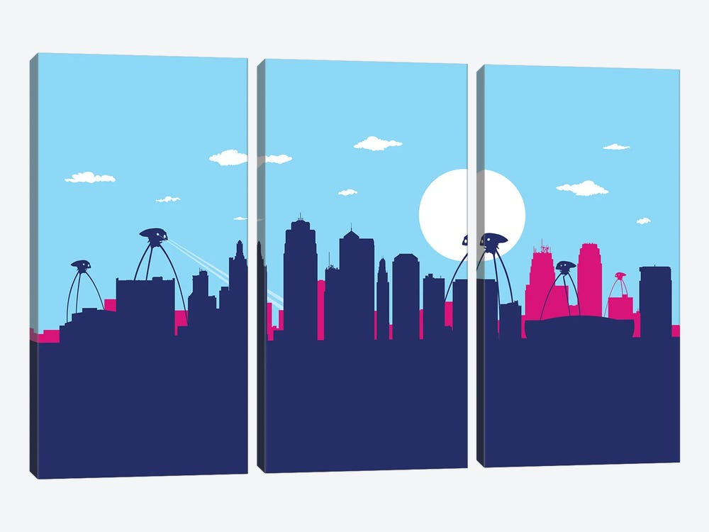 Indianapolis war by SKYWORLDPROJECT 3-piece Canvas Art Print