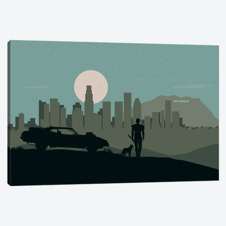 L.A. Warrior Canvas Print #SKW57} by SKYWORLDPROJECT Canvas Art Print
