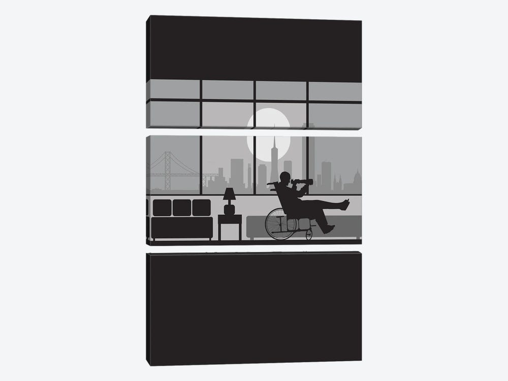 Rear view San Francisco by SKYWORLDPROJECT 3-piece Canvas Art Print