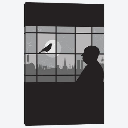 Barcelona Bird Canvas Print #SKW64} by SKYWORLDPROJECT Canvas Art