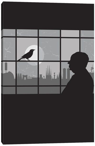 Barcelona Bird Canvas Art Print